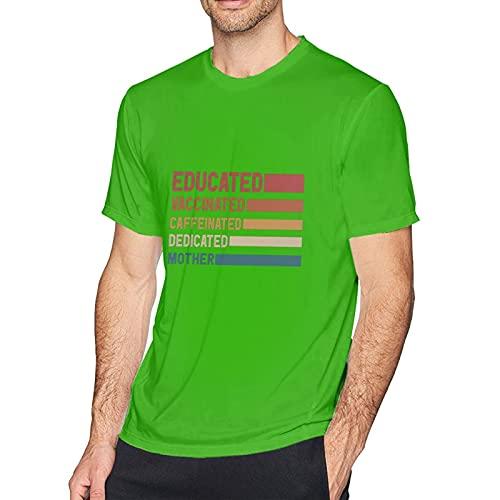 Hijingtt T-Shirt mit Aufdruck 'I Am Vaccinated and It is safe', grün, 56