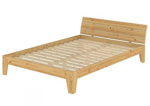 Erst-Holz Solido Largo Letto in Pino massello 160x200 Anche per Ragazzi con doghe rigide 60.62-16