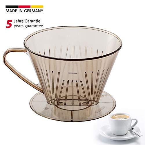 Westmark Kaffeefilter/Filterhalter, Für bis zu 2 Tassen Kaffee, Filtergröße 2, Kunststoff, Braun/Transparent, 24522261