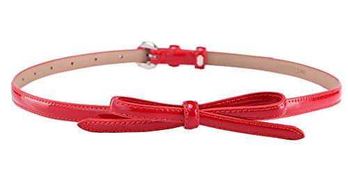 Black Temptation Vestido Rojo de Mujer Vestido Fino cinturón, Arco Moda cinturón