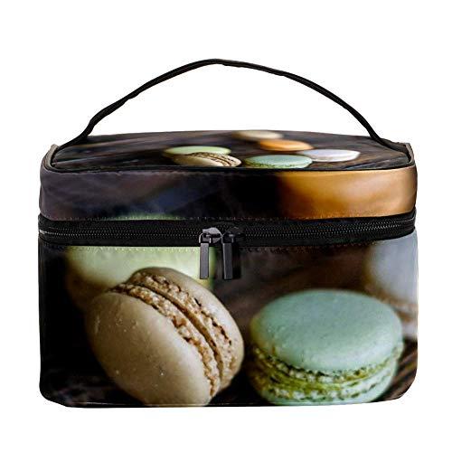 TIZORAX Macaron Dessert Cosmétique Sac Voyage Trousse De Toilette Grand Maquillage Organisateur Boîte