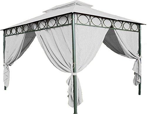Spetebo Ersatzdach für Pavillon Cape Town 4x3 in beige - Pavillondach wasserdicht - PVC Beschichtung