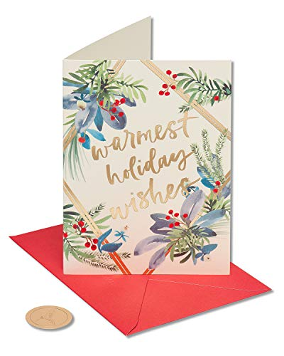 Papyrus Holiday Cards Boxed, Warmest Holiday Wishes (14-Count)