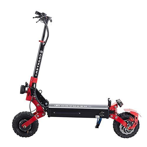 Joycelzen Patinete Eléctrico Todoterreno X3, Scooter Eléctrico Plegable con 2 Motores de 1200W y Neumáticos de 11 Pulgadas Apto para Adultos, Carga 120 kg, hasta 65 km / h