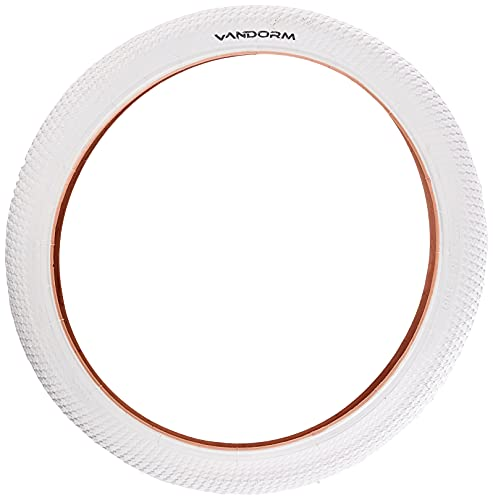 Vandorm, R2R, Copertoni da Bicicletta, Colorati, per BMX, A Prova di derapata, 50,8x 5,1cm, VTP1110WHI, White, 20' x 2.00'