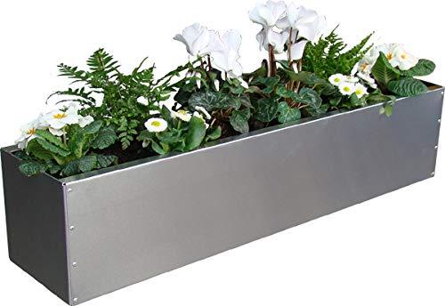 WMT BLUMENKASTEN Aluminium 15 x 15 cm | Viele Längen | TOP BALKONKASTEN | SEHR LEICHT (Länge 80 cm)