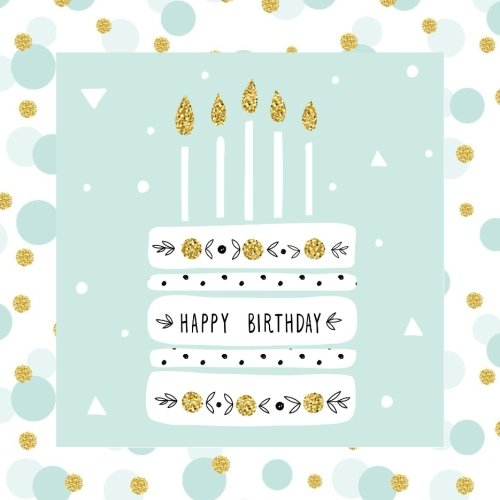 Happy Birthday: Guest Book Color-filled Golden Interior Fluer de LIs 50th 51st 52nd 53rd 54th 55th 56th 57th 58th 59th 100th 11th 12th 73th 74th 75th ... Guest Books, Birthday Cake Toppers, Band 5)