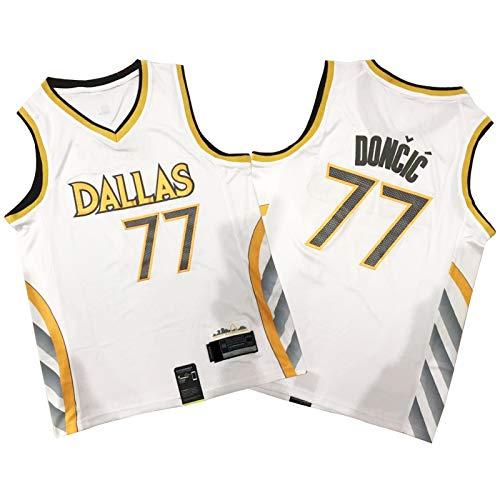 OKMJ 2021 Jersey de Baloncesto Doncic, 77# Mavericks Mens Fa