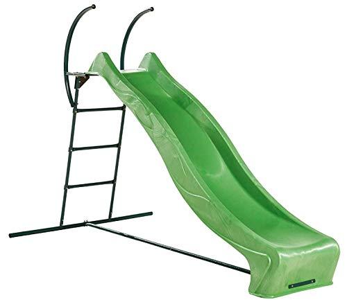 Große Kinderrutsche im Garten Leiter mit Rutsche grün von Gartenpirat®