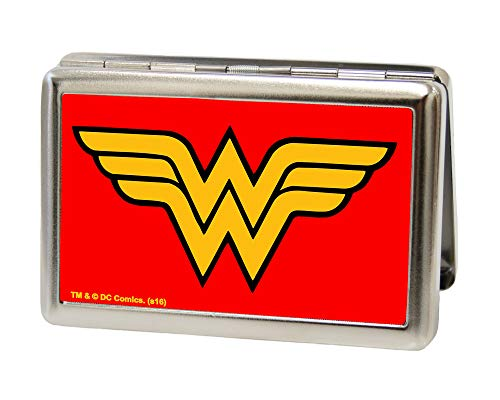 Buckle-Down Business Card Holder - Wonder Woman Logo Red - Large