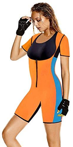 CRXL shop-Mantas Eléctricas Mujer Camiseta Sauna Chaleco Neopreno Corsé Faja Reductora Modeladora Shapewear Adelgazante (Color : Orange, Size : 4XL)