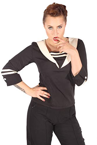 SugarShock Damen Sailor Bluse 152123766 Schwarz L