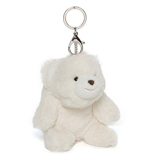"""GUND Snuffles Teddy Bear Stuffed Animal Plush Keychain, White, 5"""""""