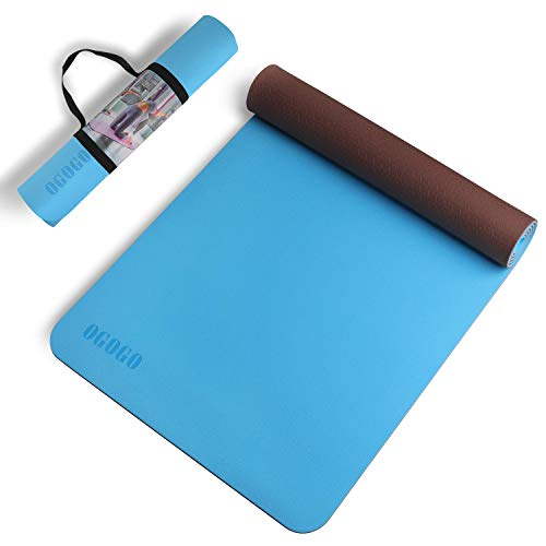 Yoga Mat - Non slip Yoga Mat Make of Excellent Quality TPE Material, High-Elasticity 72...