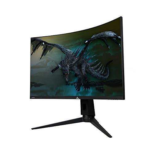 """YEYIAN Monitor Curvo Gaming 27"""" Sigurd, LED Full HD, 165Hz, Resolución 3 HDMI, 1 DisplayPort, Puerto de Pantalla, Tiempo Respuesta 1 ms, Resolución 1920x1080 (YMC-70101)"""