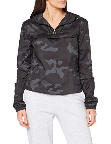 Urban Classics Damen Ladies Camo Pullover Jacke, Mehrfarbig (Darkcamo 00707), Small (Herstellergröße: S)