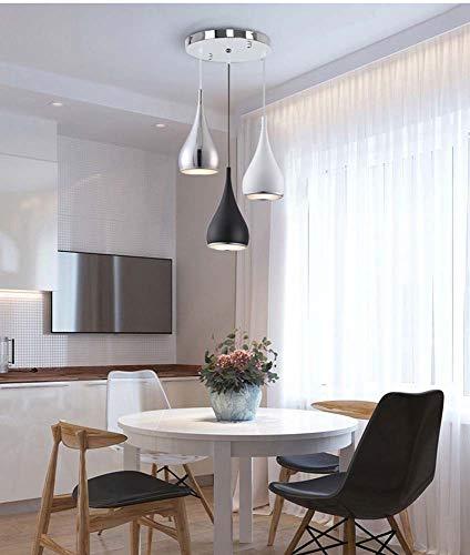 Hancoc Creative Paragraph Nordic The Office Restaurant - Lámpara de araña colgante de aleación de aluminio y zinc (3 dormitorios, 30 x 110 x 35 cm)