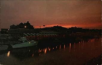 Sunset at Thompson's Clam Bar Harwich Port, Massachusetts Original Vintage Postcard
