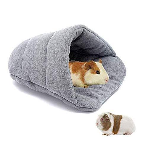 Yicare Meerschweinchen Haus Meerschweinchen Zubehoer Kleine Tier Plüsch Höhle Kuschelbett zum Kuscheln Schlafsack für Kaninchen Welpen Haustierhöhle Nest Kissen