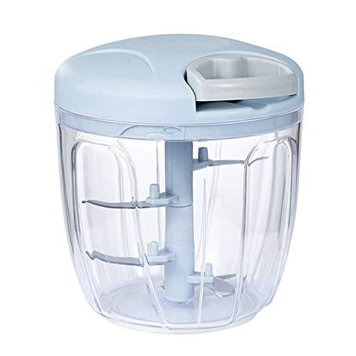 Sonline Hachoir à Main Corde Manuelle Robot Culinaire Trancheuse Déchiqueteuse Fabricant de Salade Moulins Coupe Bébé Nourriture Machine à Lait - 900 Ml