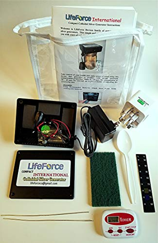 Compact International Colloidal Silver Generator Package by LifeForce Devices