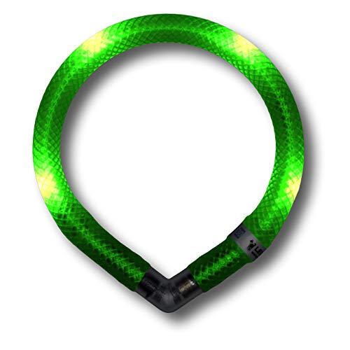 LEUCHTIE® Leuchthalsband Mini neongrün Größe 32,5 I LED Halsband extra für kleine Hunde I wasserdicht I enorm hell