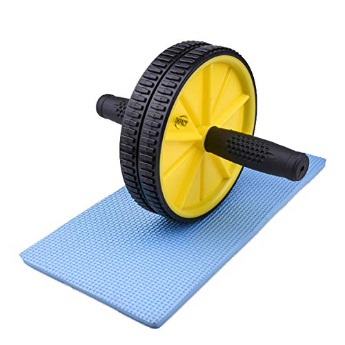 Pro Impact Core Roller Trainer - Abs Balancing, Non-Slip Handles, Double Wheel, Back, Triceps, Shoulders Exercise Equipment, Home Gym Fitness, Core Workout Men and Women Colors Available