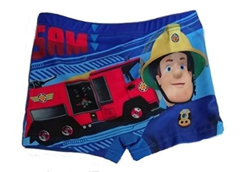 Feuerwehrmann Sam Jungen Badeshorts Fireman Sam (110 (5 Jahre), Marine)