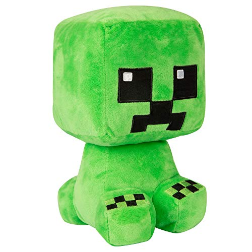 "JINX Minecraft Crafter Creeper Plush Stuffed Toy, Green, 8.75"" Tall"