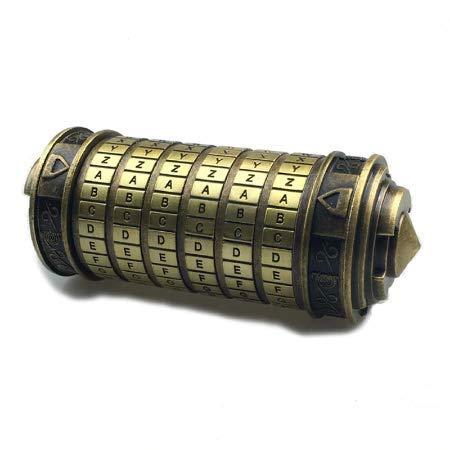 """Réplica del Cryptex"""" Da Vinci Code"""" de latón envejecido sin su caja colector."""