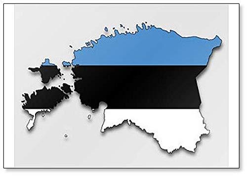 Kühlschrankmagnet, Karte der Republik Estland mit Flagge