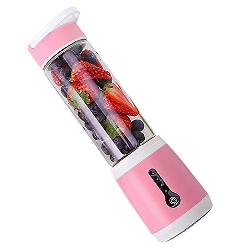 Mini Electric Juice Cup Serria® Tragbarer Mixer USB aufladbarer Stabmixer für einfach zu servierende kleine Mixer für stärkere Shakes 4000MAH Geschwindigkeit 25000 U Rosa 80x80x280mm