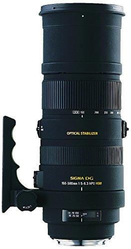 Sigma 150-500/5,0-6,3 DG APO HSM OS - Objetivo para Canon (Distancia Focal 150-500mm, Apertura f/6.3, estabilizador, diámetro: 9.47 Centimeters) Color Negro