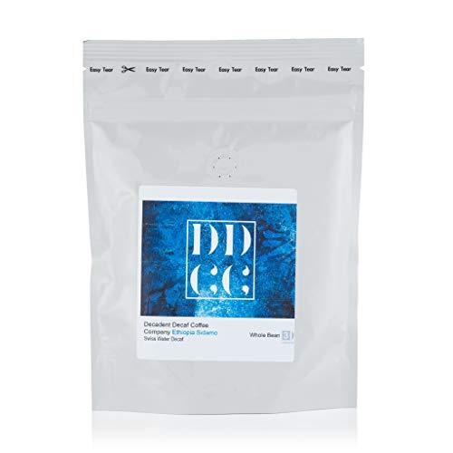 Caffè Decaffeinato in grani Etiopia Sidamo, decaffeinato Swiss Water Decaf Process, 227 g, Decadent Decaf Coffee Company