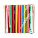 BrightDaily Bright Colors - Pajitas para batidos (reutilizables, 100 unidades), diseño de...
