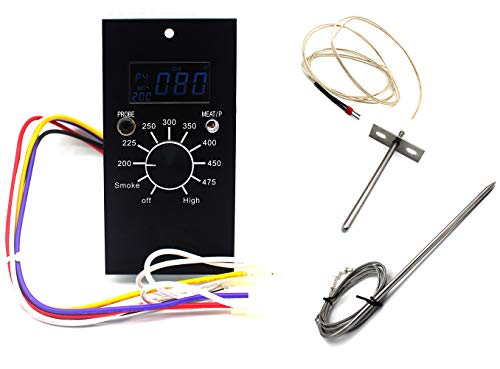 Unifit Universal Replacement Parts Digital Temperature Control Panel Kit for Pit Boss Pellet Smoker Grills PB700/340/440/820, with Sensor and Meat Probe