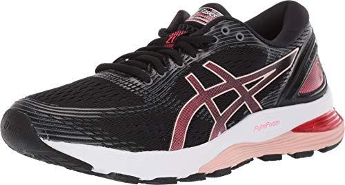 ASICS Women's Gel-Nimbus 21 Running Shoes, 6.5M, Black/Laser Pink