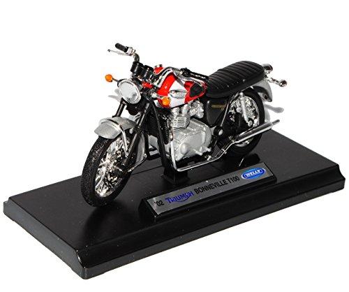 Welly 2002 Triumph Bonneville T100 1/18 échelle Miniature de Moto