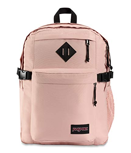 JanSport Main Campus Student Backpack - School, Travel, or Work Bookbag w 15-Inch Laptop Sleeve and Dual Water Bottle Pockets, Misty Rose
