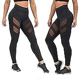 XMYNB Leggings Gym Leggings Fitness Fitness Sport Sport Yoga Pantaloni da Corsa Donne Leggings Sport Leggings Nero Mesh Push Up Leggins Joga Collant Sportleggings