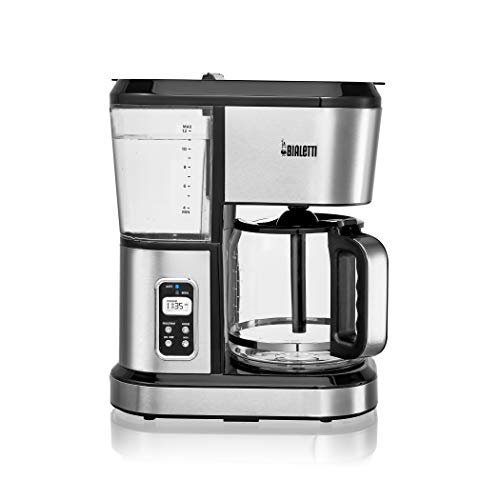 Bialetti (35061) 12 Cup Programmable Coffee Maker, Stainless Steel