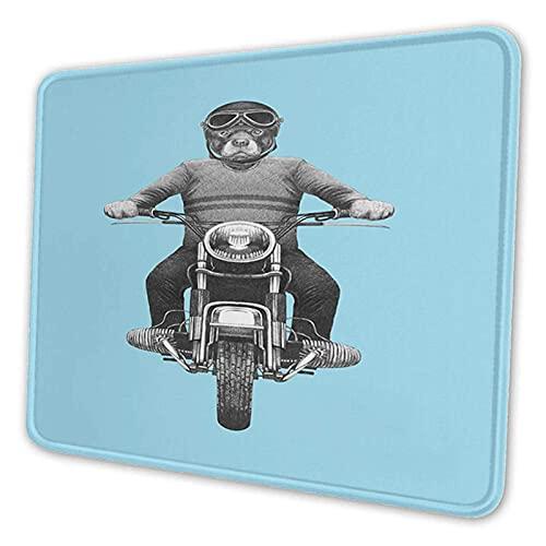 ETHAICO Mauspad Kundenspezifisches Mousepad Rutschfeste Gummiunterseite Mauspads für Computer Laptop Büro Schreibtisch Zubehör Hunderasse Reiten Motorrad Abenteuerlicher Roller Schutzhelm Mauspad