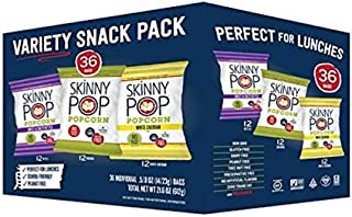 Popcorn , Gluten-free, dairy-free and peanut-free Variety pack of 36 Count