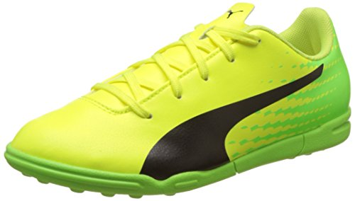 Puma Evospeed 17.5 TT Jr, Botas de fútbol Infantil, Amarillo (Safety Yellow Black-Green Gecko 01), 37.5 EU
