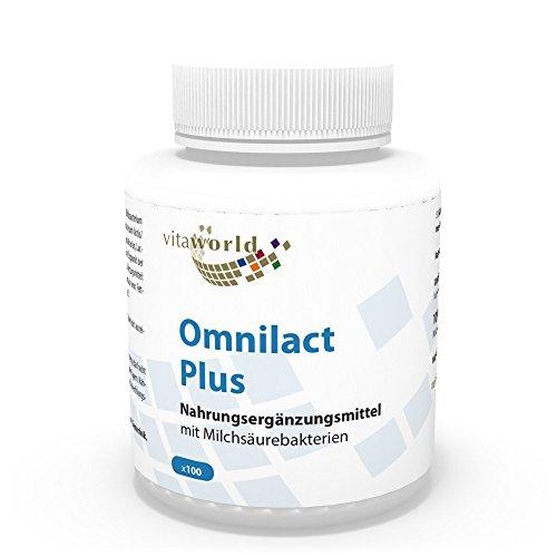 Complejo Probiótico Omnilact plus 100 Cápsulas Vita World - Lactobacilo Acidófilo - Lactobacilo Bulgaricus - Bifidobacteria Bifidum - Streptococcus Thermophilus