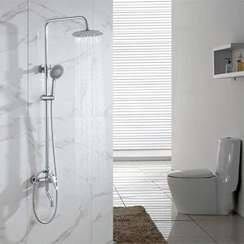 LHW Shower Set chset, Bronze, rund, 3-Fach Dusche, Kompressor, Multifunktion, Dusche, Handbrause, Dusche