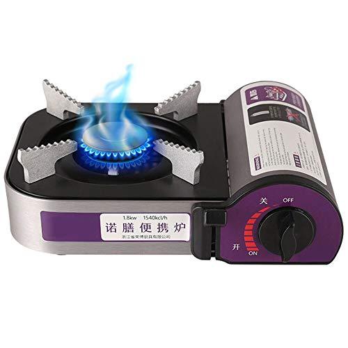 Lixada Cocina Gas Portatil para Camping 1800W Aleación de Aluminio Mini Cassette Estufa de Gas Butano para Picnic Camping