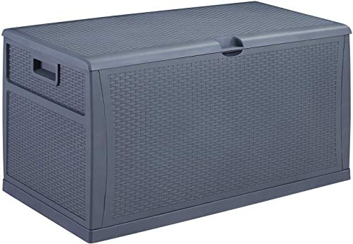 HYD-Parts Waterproof Patio Deck Box, Outdoor Garden Storage Container Bench Box 120 Gallon for Patio Cushions and Gardening Tools