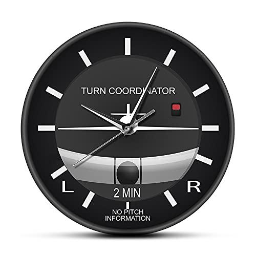 Relojes para dormitorios regalos para las mujeres Aviación Clásico Silencioso No Ticking Reloj de Pared Avión Bañera Estilo Cara Reloj de Pared Avión Instrumento Reloj Pilotos Regalo para Hombres