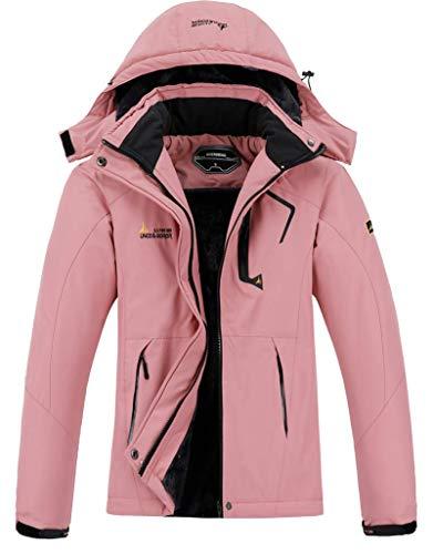 Women's Mountain Waterproof Ski Jacket Windproof Rain Windbreaker Winter Warm Hooded Snow Coat